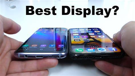 apple x vs samsung s8 apple iphone x vs samsung galaxy s8 brightness viewing
