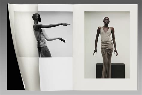 layout fashion book non format rick owens lilies