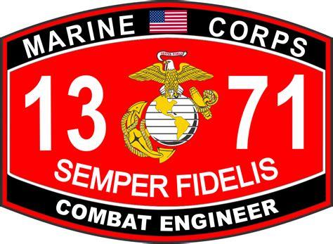 Usmc Marine Corps combat engineer marine corps mos 1371 u s m c decal