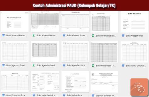 contoh administrasi paud kelompok belajar tk file