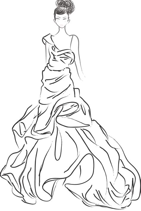 Jessica P Fashion Sketches Fashion Model Coloring Pages