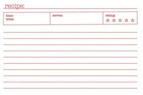 5x7 recipe card template for word 40 recipe card template and free printables tip junkie
