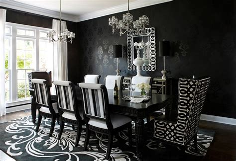 dark dining room how to use black to create a stunning refined dining room