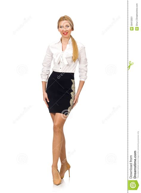 abbigliamento donna ufficio donna in abbigliamento classico dell ufficio isolato su