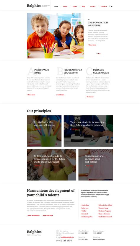 elementary school tutoring joomla template