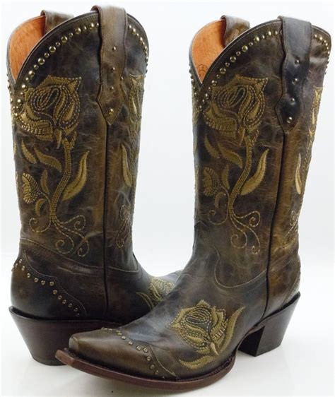 with cowboy boots lucchese m5700 womens olive brown leather western cowboy