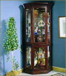 Ideas Design For Lighted Curio Cabinet Corner Lighted Curio Cabinet Home Design Ideas