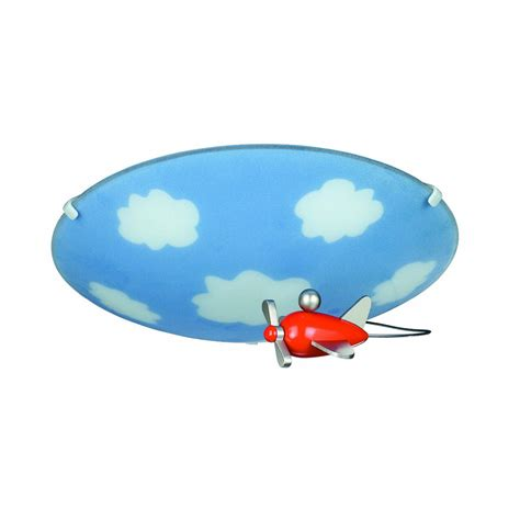 Aeroplane Ceiling Light Philips 30110 55 48 Kidsplace Sky Flushmount Ceiling Light With An Airplane Multi Colored