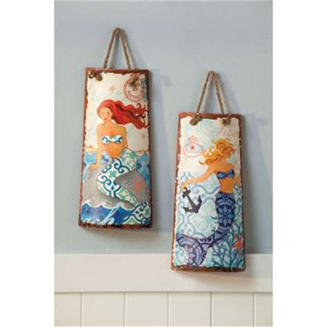 Uttermost Home Decor by Ceramic Mermaid Wall Decor Set Of 2