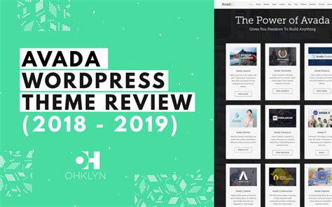 wordpress themes avada review 20 best fashion blog wordpress themes 2018 ohklyn
