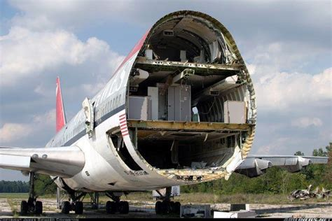 sections of an airplane abandoned boeing 747 100 at laurinburg maxton aircraft