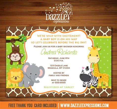 printable jungle invitation printable jungle baby shower invitation safari baby