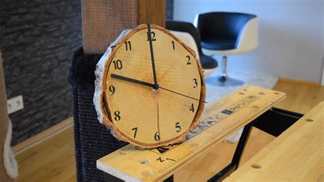 diy holz diy wood clock uhr selber bauen eine wanduhr aus holz