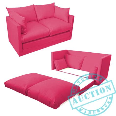 small pink couch pink fold out 2 seater small sofa sofabed double guest bed