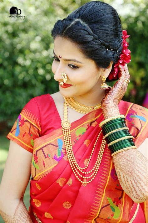 maharashtrian bride wearing traditional saree  bridal