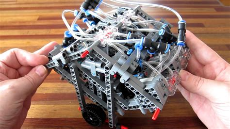 W12 Engine lego pneumatic engine camless w12
