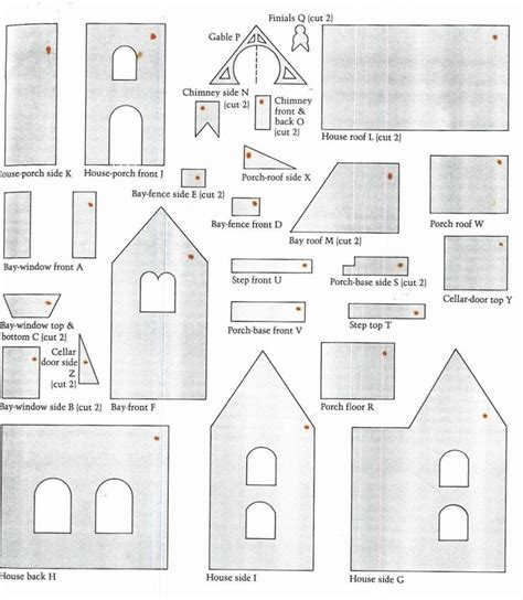 gingerbread house template gingerbread house pattern a gingerbread house