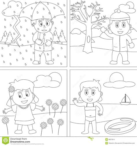 scottish garden seasons colouring book books coloring book for 28 stock images image 8607814