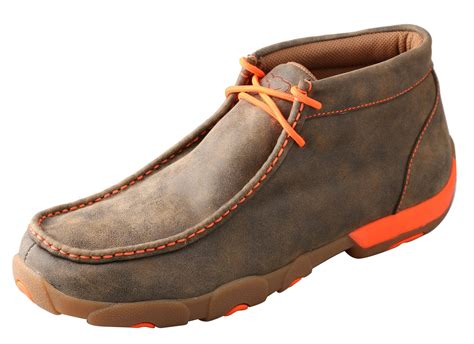 twisted x shoes for s twisted x shoes bomber driving moc w neon orange