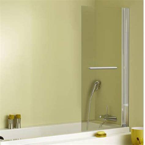 paroi de baignoire relevable pare baignoire 1 volet verre de s 233 curit 233 5 mm transparent