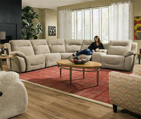 southern motion sectionals southern motion eclipse corner shaped reclining sectional