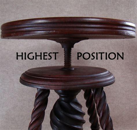 adjustable piano stool walnut solid walnut adjustable piano stool with claw and