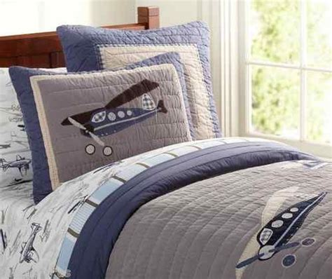 airplane bedding twin pottery barn kids taking flight airplane twin quilt sham