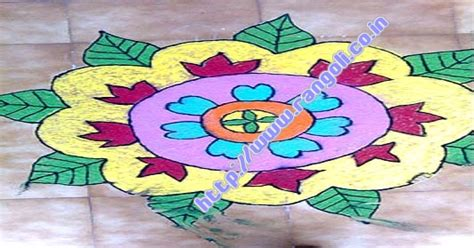 leaf pattern rangoli flower leaves rangoli leaves and flowers pattern in a