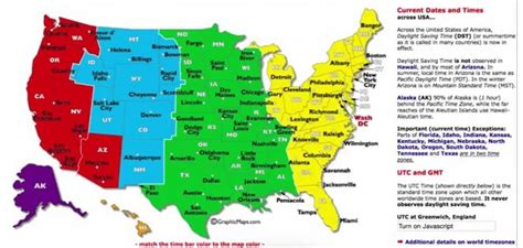 time zone map of usa dst utc gmt time zone map of the usa whatsanswer