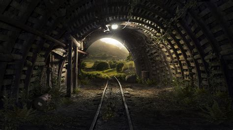 tunnel tracks  wallpapers hd wallpapers id