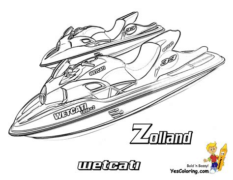 jet ski coloring pages to print coolest boat printables free boat coloring pages