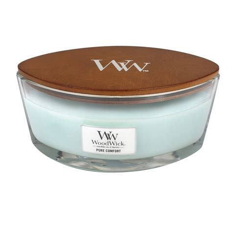 pure comfort pure comfort woodwick candle 16 oz hearthwick flame