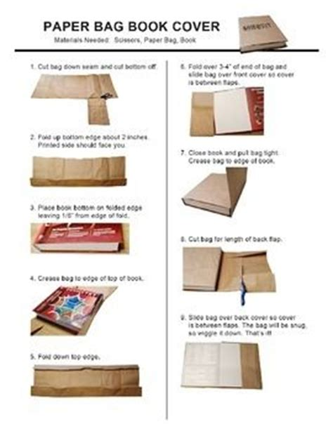 Steps To Make Paper Bags - paper bag book cover end of student and the o jays