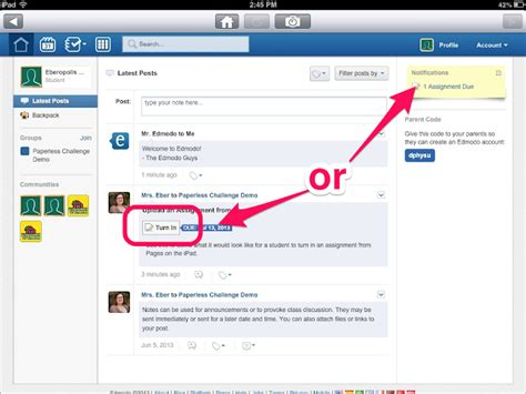 edmodo turn in assignments eberopolis teaching reading and writing with technology