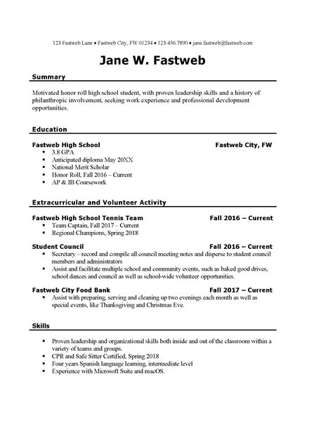 pleasing resumes samples for college students summer jobs in 23