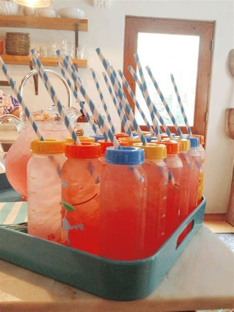 Drinks Baby Shower by Baby Bottle Drinks Baby Shower Ideas Livingly