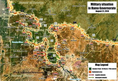 hama battle map  fight  central syria