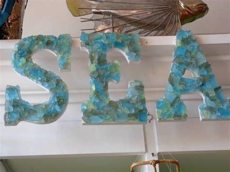 sea glass home decor shell letters seaglass letters beach decor quot sea quot sea