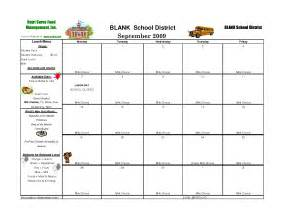 7 best images of school menu template printable school