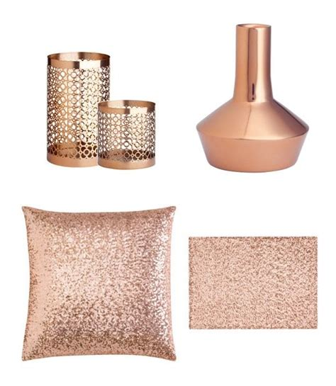 rose gold home decor copper accents would look so warm and lovely in my living