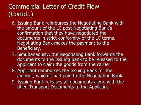 negotiating bank in lc letter of credit