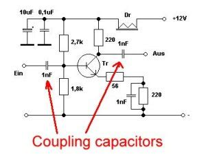 coupling capacitor function coupling capacitor in transistor 28 images 17 best images about electr 243 nica on