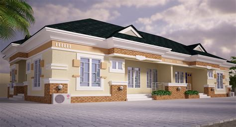 semi detached bungalow house plans bungalow in nigeria pictures joy studio design gallery best design