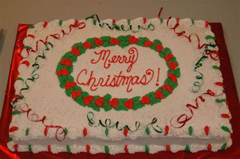 full sheet christmas cake for church with simple