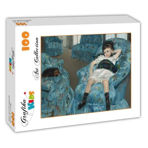 little girl in a blue armchair puzzle mary cassatt little girl in a blue armchair 1878 grafika kids 01336 100