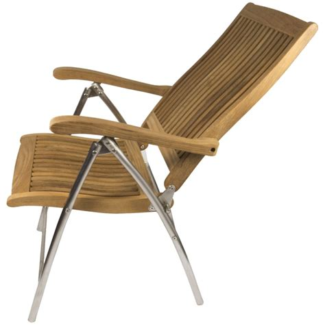 Deck Chair Position by Seateak Teak Windrift Folding 6 Position Deck Chair West