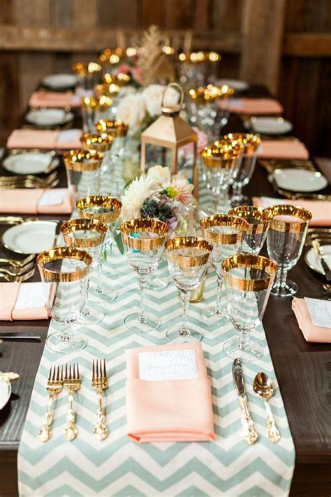 Beautiful Table Settings Mint Wedding Beautiful Table Setting 2030863 Weddbook