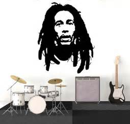 Bob Marley Room Decor Bob Marley Wall Decal Sticker Vinyl Decor Mural Bedroom