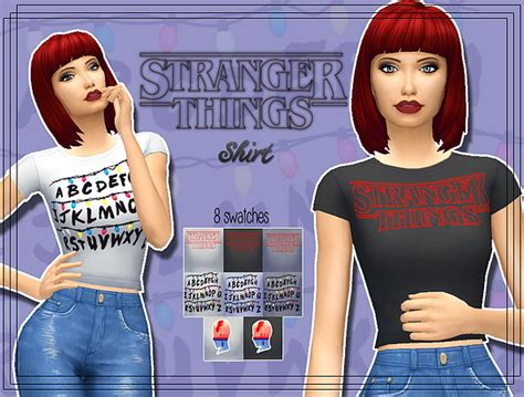 Study Decor Stranger Things Shirt At Kass 187 Sims 4 Updates