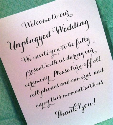 Unplugged Wedding Announcement by L Arabesque Events Unplugged Weddings L Arabesque Events